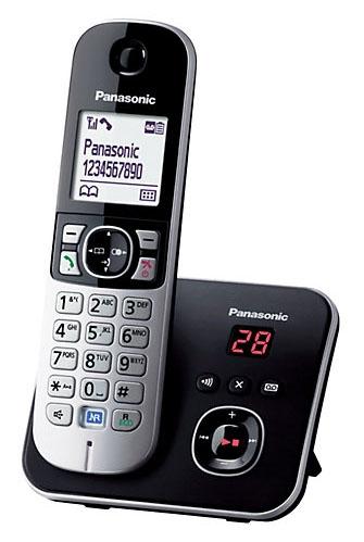 Telefon bezšňůrový Panasonic KX-TG6821FXB, černý